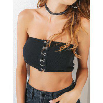 Ribbed Knit Crop Tube Bandeau Top
