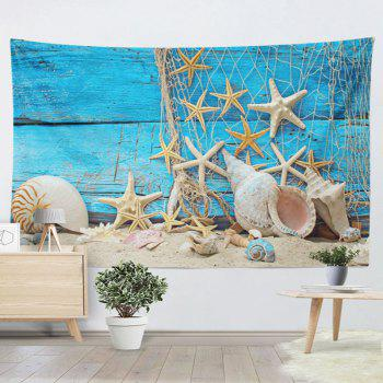 Wall Hanging Beach Starfish Wood Home Decor Tapestry - W59 INCH * L59 INCH W59 INCH * L59 INCH