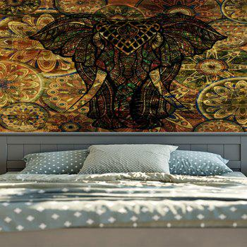 Wall Hanging Vintage Elephant Printed Tapestry - DEEP BROWN W51 INCH * L59 INCH