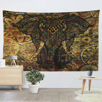 2018 Wall Hanging Vintage Elephant Printed Tapestry Deep Brown W Inch L Inch In Wall Tapestries