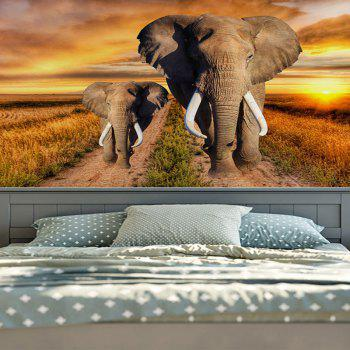 Elephant Printed Wall Hanging Home Decor Tapestry - YELLOW W59 INCH * L59 INCH