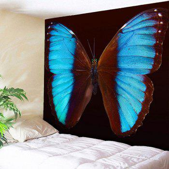 Home Decor Wall Hanging Butterfly Tapestry - BROWN BROWN