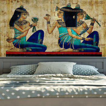Wall Hanging Egyptian Mural Tapestry - YELLOW YELLOW
