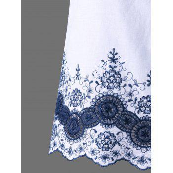Asymmetric Embroidered Top - XL XL
