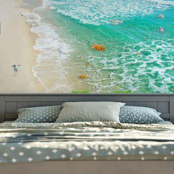 Home Decorative Wall Hanging Animal Beach Tapestry - GREEN W59 INCH * L79 INCH
