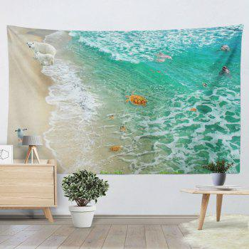 Home Decorative Wall Hanging Animal Beach Tapestry - GREEN GREEN