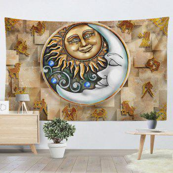 Wall Hanging Twelve Constellations Decoration Tapestry - YELLOW W59 INCH * L79 INCH
