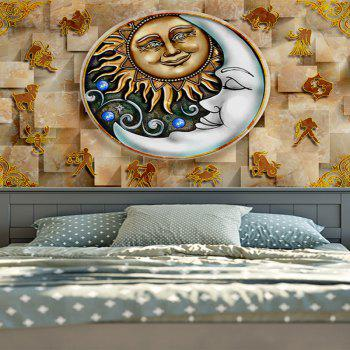 Wall Hanging Twelve Constellations Decoration Tapestry - YELLOW W51 INCH * L59 INCH
