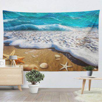Wall Hanging Beach Scenery Home Decor Tapestry - BLUE BLUE