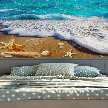 Wall Hanging Beach Scenery Home Decor Tapestry - BLUE W59 INCH * L79 INCH