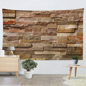Brick Wall Hanging Printed Home Decor Tapestry - BRICK RED W51 INCH * L59 INCH