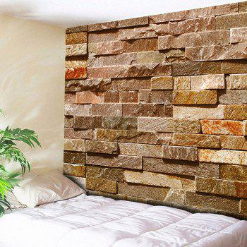 Brick Wall Hanging Printed Home Decor Tapestry - BRICK-RED W51 INCH * L59 INCH