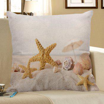 Home Decor Starfish Conch Printed Pillow Case