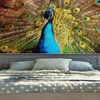 Animal Wall Hanging Peacock Printing Tapestry - PEACOCK W51 INCH * L59 INCH