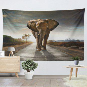 Animal Wall Hanging Home Decor Elephant Tapestry - GRAY GRAY