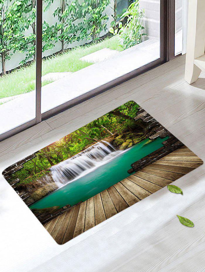 Waterfall Forest Printed Skidproof Bath Rug dreamcatcher printed skidproof bath rug