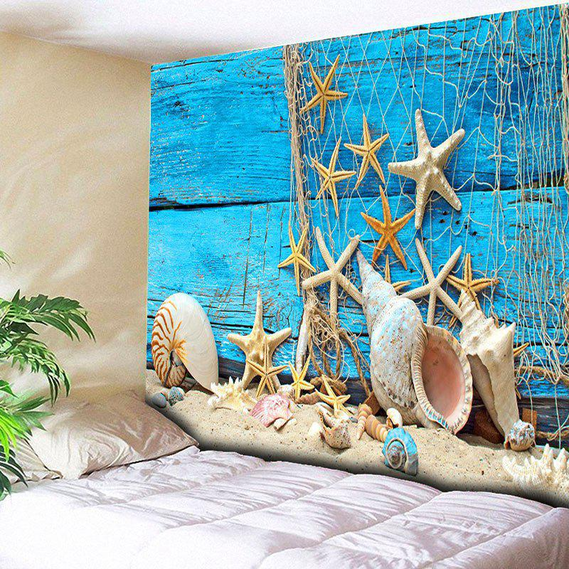 Wall Hanging Beach Starfish Wood Home Decor Tapestry home decor wall hanging beach conch tapestry