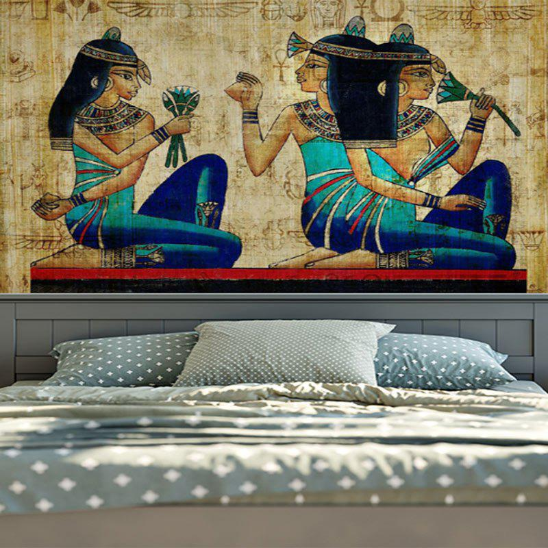 Wall Hanging Egyptian Mural Tapestry - YELLOW W79 INCH * L59 INCH