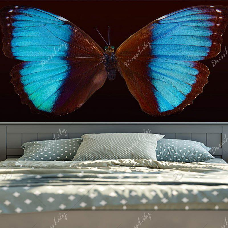 Home Decor Wall Hanging Butterfly Tapestry - BROWN W59 INCH * L59 INCH
