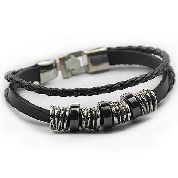Braided Fake Leather Wrap Bracelet 2 up tour pak mounting luggage rack for harley touring flhr flht flhx fltr 14 16