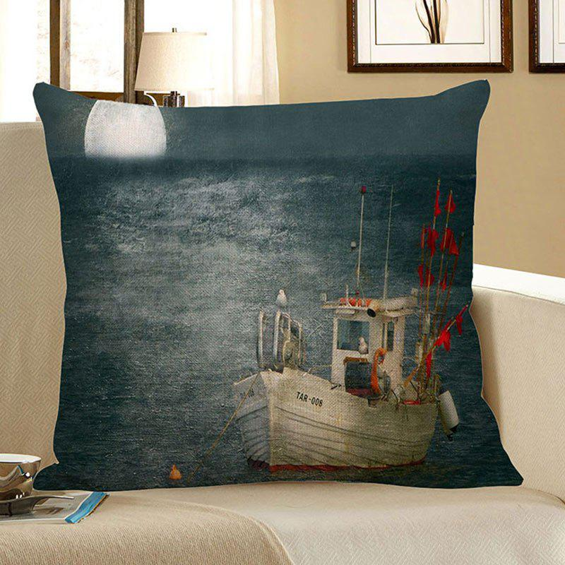 Sea Sailboat Moon Print Decorative Pillow Case toy joy thai beads розовая анальная цепочка page 8