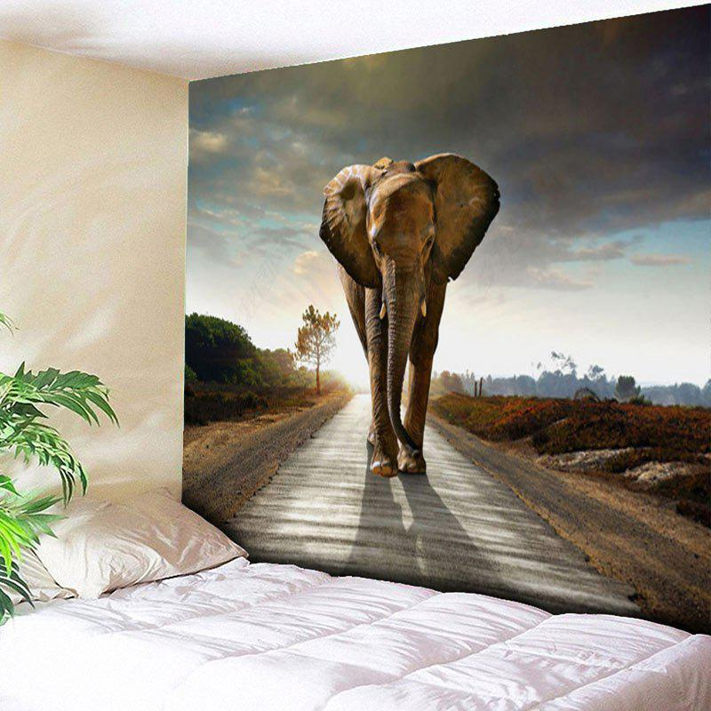 Animal Wall Hanging Home Decor Elephant Tapestry - GRAY W51 INCH * L59 INCH
