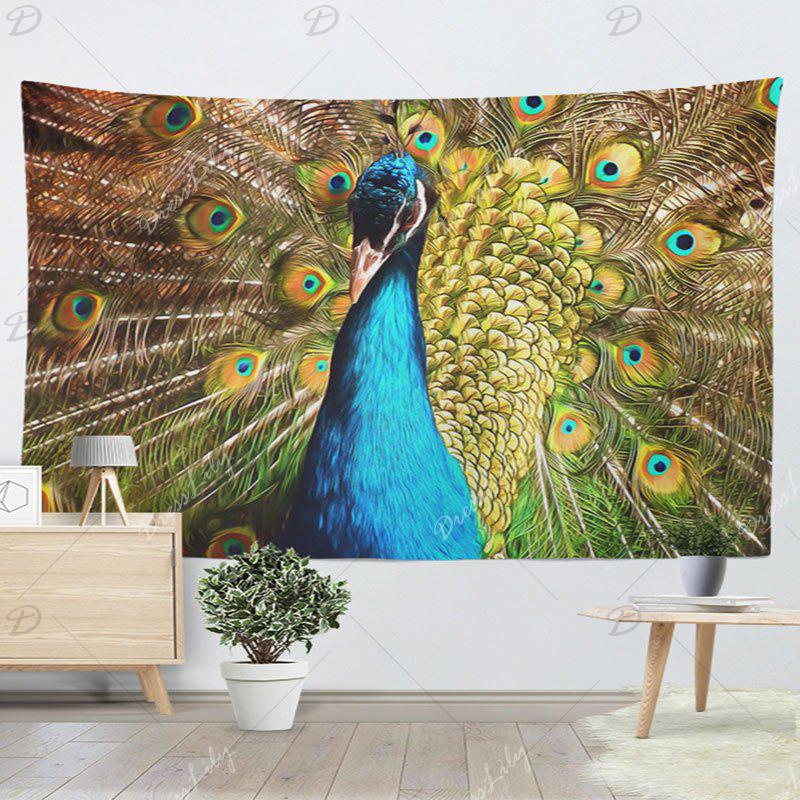 Animal Wall Hanging Peacock Printing Tapestry - PEACOCK W59 INCH * L59 INCH