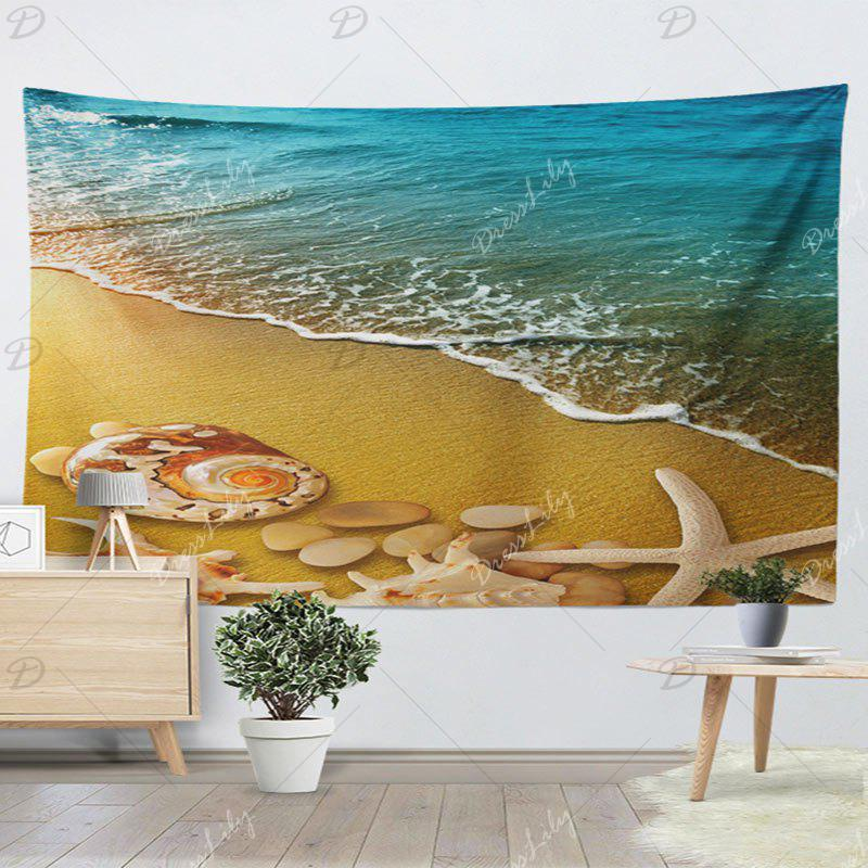 Home Decor Wall Hanging Beach Scenery Tapestry - SAND YELLOW W51 INCH * L59 INCH