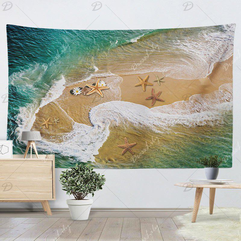 Wall Hanging Beach Starfish Tapestry - SAND YELLOW W59 INCH * L79 INCH