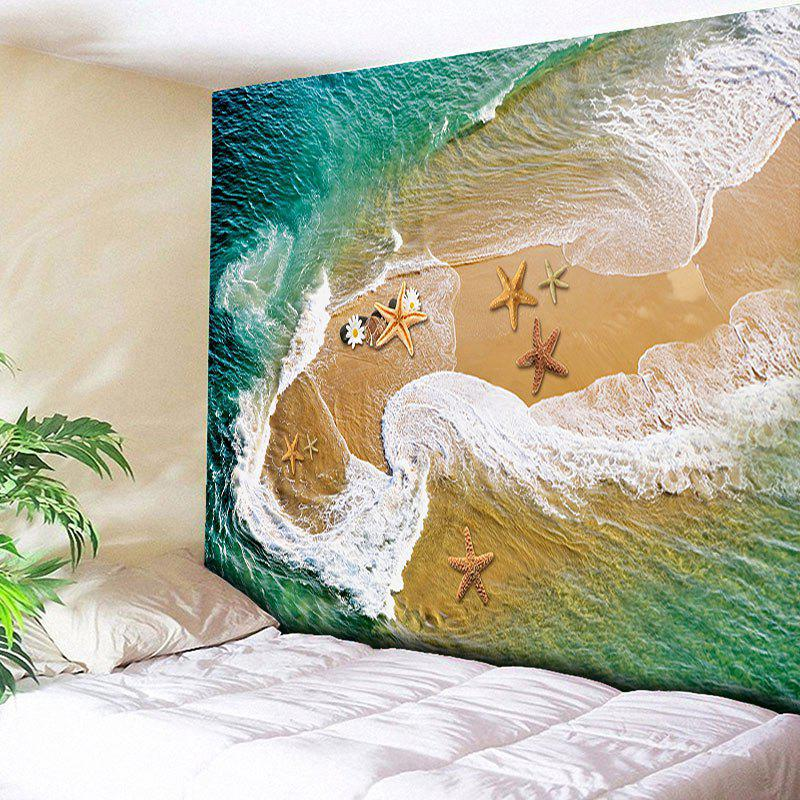 Wall Hanging Beach Starfish Tapestry - SAND YELLOW W51 INCH * L59 INCH