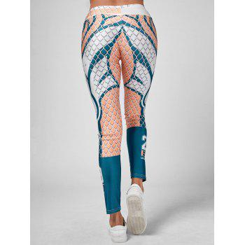 Grid Graphic Stretchy Leggings - multicolor ONE SIZE