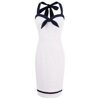 Mini Sleeveless Halter Sheath Dress