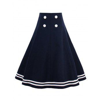 A Line High Waisted Skirt