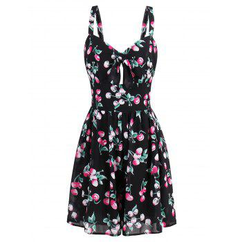 Mini Printed Flare Summer Dress - COLORMIX L