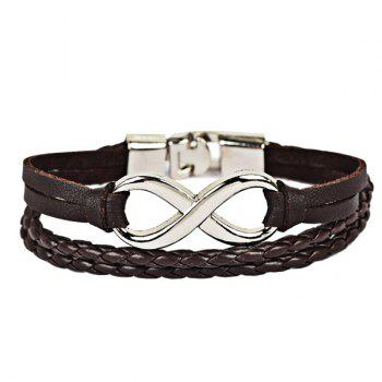 Faux Leather Infinite Braid Rope Bracelet
