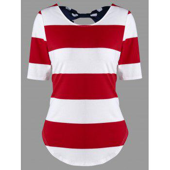 Striped Bowknot T-Shirt