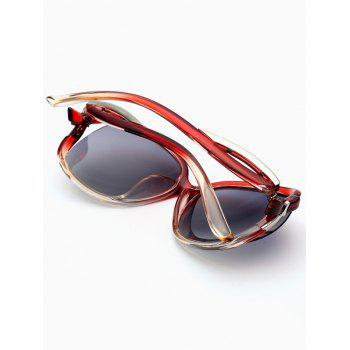 Hollow Cut Anti UV Reflective Sunglasses -  WINE RED