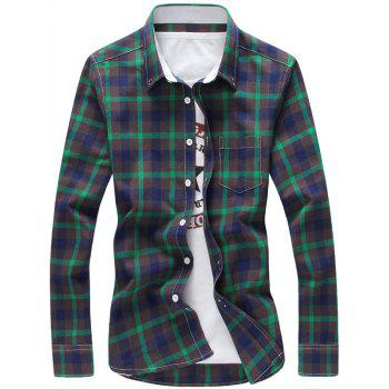 Chest Pocket Button Down Plaid Shirt