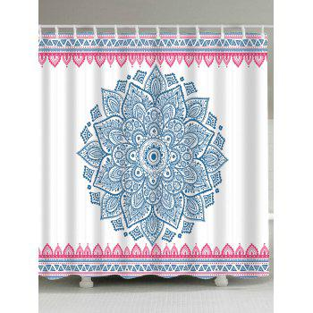 Bohemian Floral Extra Long Shower Curtain