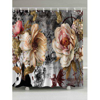 Vintage Flower Mouldproof Shower Curtain