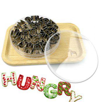 26 English Alphabets Baking Tools Cookie Mold Set - STAINLESS STEEL STAINLESS STEEL