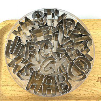 26 English Alphabets Baking Tools Cookie Mold Set -  STAINLESS STEEL