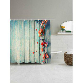 ... Vintage Floral Wood Grain Waterproof Shower Curtain   LIGHT BLUE W79  INCH * L79 INCH ...