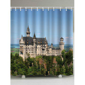 Extra Long Castle Anti-bacteria Shower Curtain
