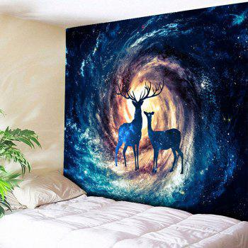 Home Wall Hanging Star Sky Deer Print Tapestry - STARRY SKY PATTERN W59 INCH * L79 INCH