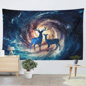 Home Wall Hanging Star Sky Deer Print Tapestry - W59 INCH * L59 INCH W59 INCH * L59 INCH
