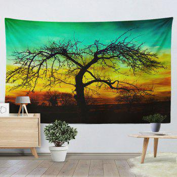 Wall Hanging Deadwood Print Décoration intérieure Tapisserie - GREEN W59 INCH * L79 INCH