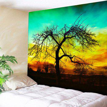 Wall Hanging Deadwood Print Home Decor Tapestry - GREEN GREEN