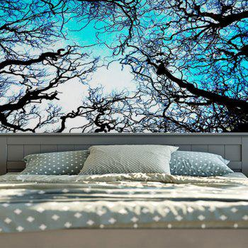 Wall Hanging Forest Tree Printing Tapestry - BLUE W59 INCH * L51 INCH
