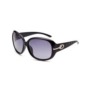 Rhinestone Decorated Anti UV Sunglasses - PHOTO BLACK PHOTO BLACK